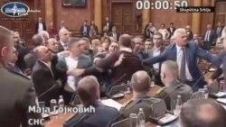 Incident u Skupštini Srbije