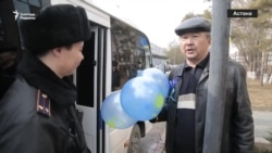 Көк шармен жүргендерді полиция ұстады