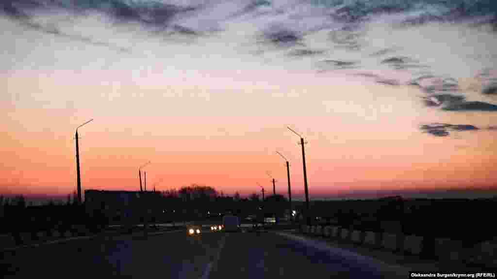 Закат солнца в Джанкое