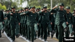 IRGC members on parade (file photo)