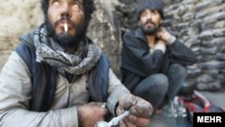 FILE: Drug addicts in Iran