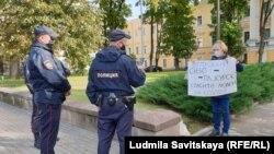 Ирина Милушкина в пикете