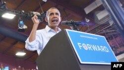 Барака Обама виступає на мітингу в штаті Огайо