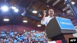 Барак Обама выступает в штате Огайо