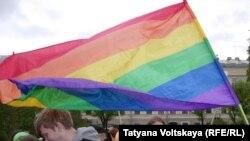 Одна из акций ЛГБТ-сообщества Петербурга
