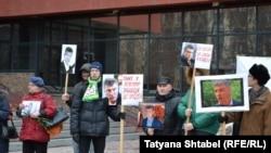 Акция в память о Борисе Немцове в Новосибирске