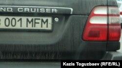Автомобиль с предполагаемым «государственным регистрационным номерным знаком (ГРНЗ) повышенного спроса».