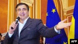 Former Georgian President Mikheil Saakashvili is now the governor of Ukraine's Odesa region. (file photo)