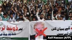 Антиамериканская демонстрация в Пакистане