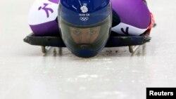 Ліззі Ярнолд на олімпійській трасі в Сочі, 2014 рік