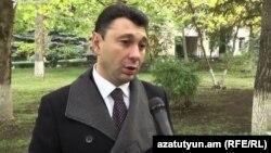 Пресс-секретарь правящей Республиканская партии Армении, вице-спикер Национального собрания Армении Эдуард Шармазанов, Ереван, 27 октября 2016 г.