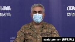 Представитель Минобороны Армении Арцрун Ованнисян (архив)