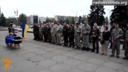 Бійці батальйону «Донбас» вшанували пам'ять загиблого ходою по Запоріжжю
