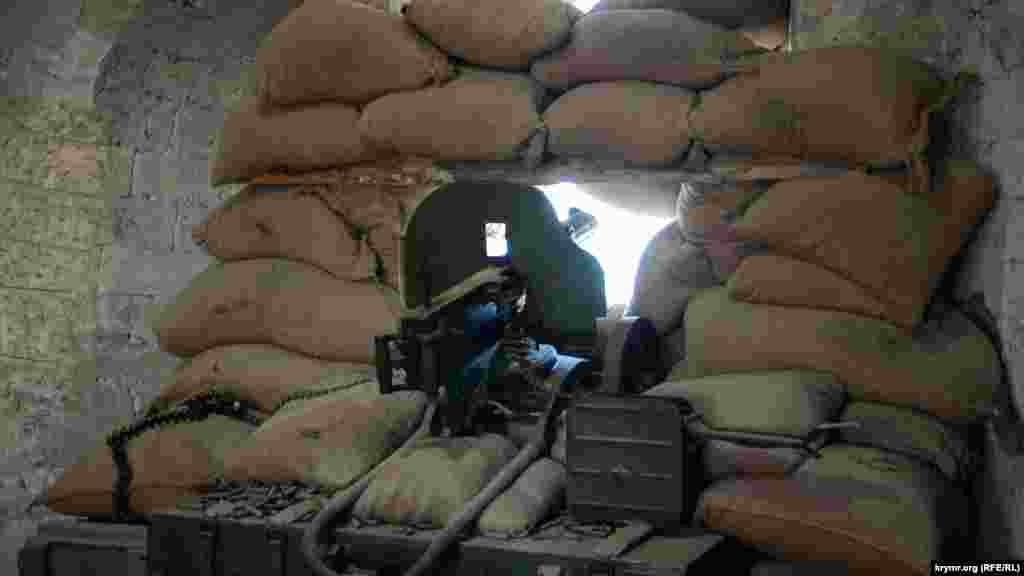 Кулемет в одному із залів, присвяченому громадянській війні в Росії