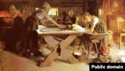 Андэрс Цорн, «Выпечка хлеба» (1889)
