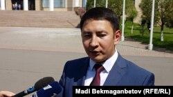 Официальный представитель министерства иностранных дел Казахстана Аунар Жайнаков. Астана, 25 июля 2017 года.