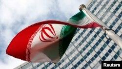 پرچم ایران در محل برگزاری نشست آژانس بینالمللی انرژی اتمی