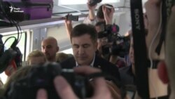 Саакашвили вместе с поездом задержали в польском Перемышле (видео)