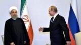 Orsýetiň prezidenti Wladimir Putin we onuň eýranly kärdeşi Hassan Rohani, Baku, 8-nji awgust, 2016
