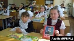 Казанның 155нче мәктәбендә дәрес бара