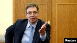 Serbia's Prime Minister Aleksandar Vucic