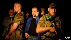 «Прэм'ер-міністар» групоўкі «ДНР» Аляксандар Барадай (у цэнтры)