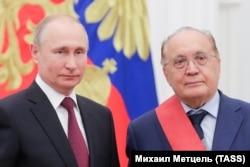 Ректор МГУ Виктор Садовничий и российский президент Владимир Путин