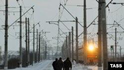 На месте происшествия на железной дороге в Санкт-Петербурге