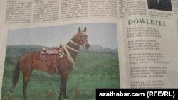 "Türkmen gazetinde Hojamuhammet Kakalyýewiň çap bolan ""Döwletli"" atly goşgusy. 25-nji aprel, 2011."