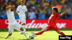 Момент игры на ЧМ 2014 между сборными Бельгии и Алжира. Иллюстративное фото