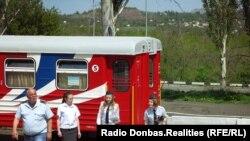 На відкритті 47-го сезону роботи дитячої залізниці в Донецьку, 1 травня 2019 року