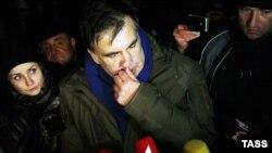 Mikheil Saakashvili Kiyevin mərkəzinə