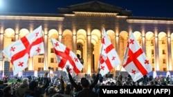 Акция оппозиции в Тбилиси, ноябрь 2020 года