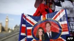 Кралската двојка и на британското знаме