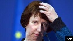Еуропа Одағының сыртқы саясат мәселелері бойынша өкілі Кэтрин Эштон. Сербия, Белград, 30 қазан 2012 жыл.