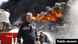 Під час гасіння пожежі, 10 червня 2015 року