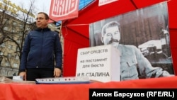 Aleksei Denisyuk has long been attempting to drum up support for a Stalin monument in Novosibirsk.