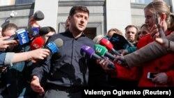 Владимир Зеленский после встречи в Верховной раде Украины, Киев, 4 мая