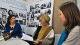 Cristina Cojocaru, Ianina Spinei și Mariana Kalughin la dezbaterea din studioul Europei Libere