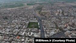تصویر هوایی از شهر ورامین