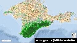 Дані про стан рослинності в Криму за 2018 рік