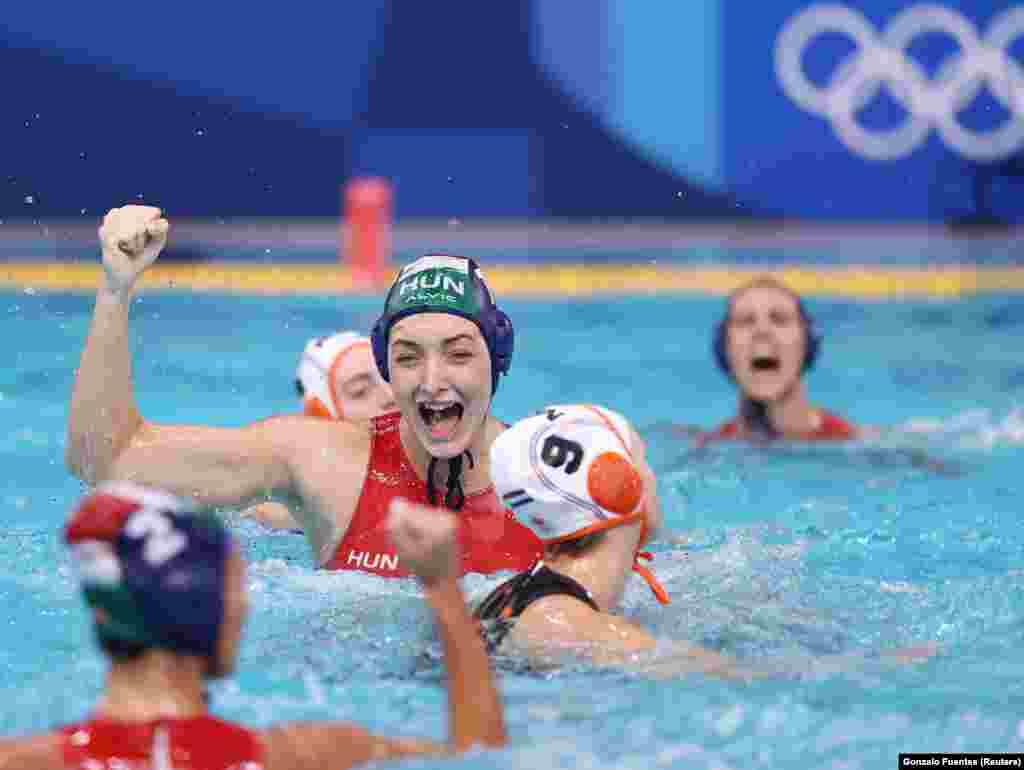 Водное поло, женщины, четвертьфинал. Нидерланды против Венгрии. Токио, 3 августа 2021