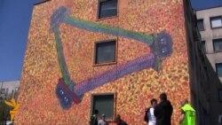 21 04 2015 Графити за мир во БиХ, Експлозија во Авганистан