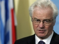 Russian UN Ambassador Churkin called the initial claims a 'flagrant distortion' (file photo) (AFP)