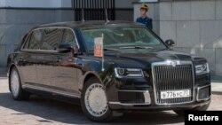 Автомобіль Володимира Путіна під час інавгурації. Москва, 7 травня 2018 року