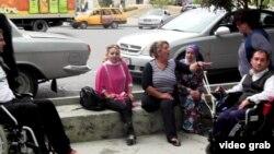 Акция протеста людей с ограниченными физическими возможностями, декабрь, 2015