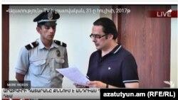 Андриас Гукасян в суде, Ереван, 31 июля 2017 г․