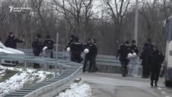 Policijska blokada kod Sportskog centra Kovilovo
