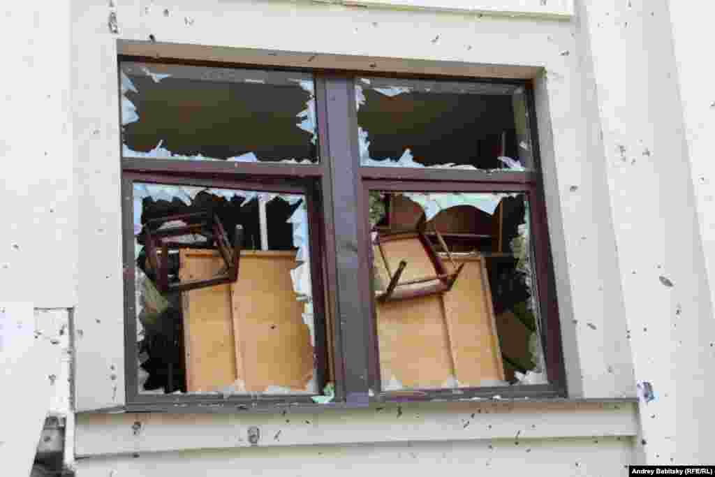 An explosion struck the separatist-held administration building on June 2, killing at least eight people. Rebels claimed the blast was an air strike by the Ukrainian military, a charge rejected by officials in Kyiv.