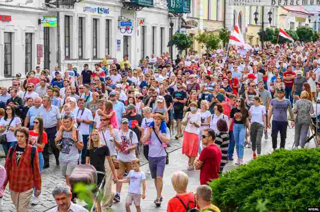 Belarus - Protests after presidential elections in Belarus. Hrodna, 23Aug2020